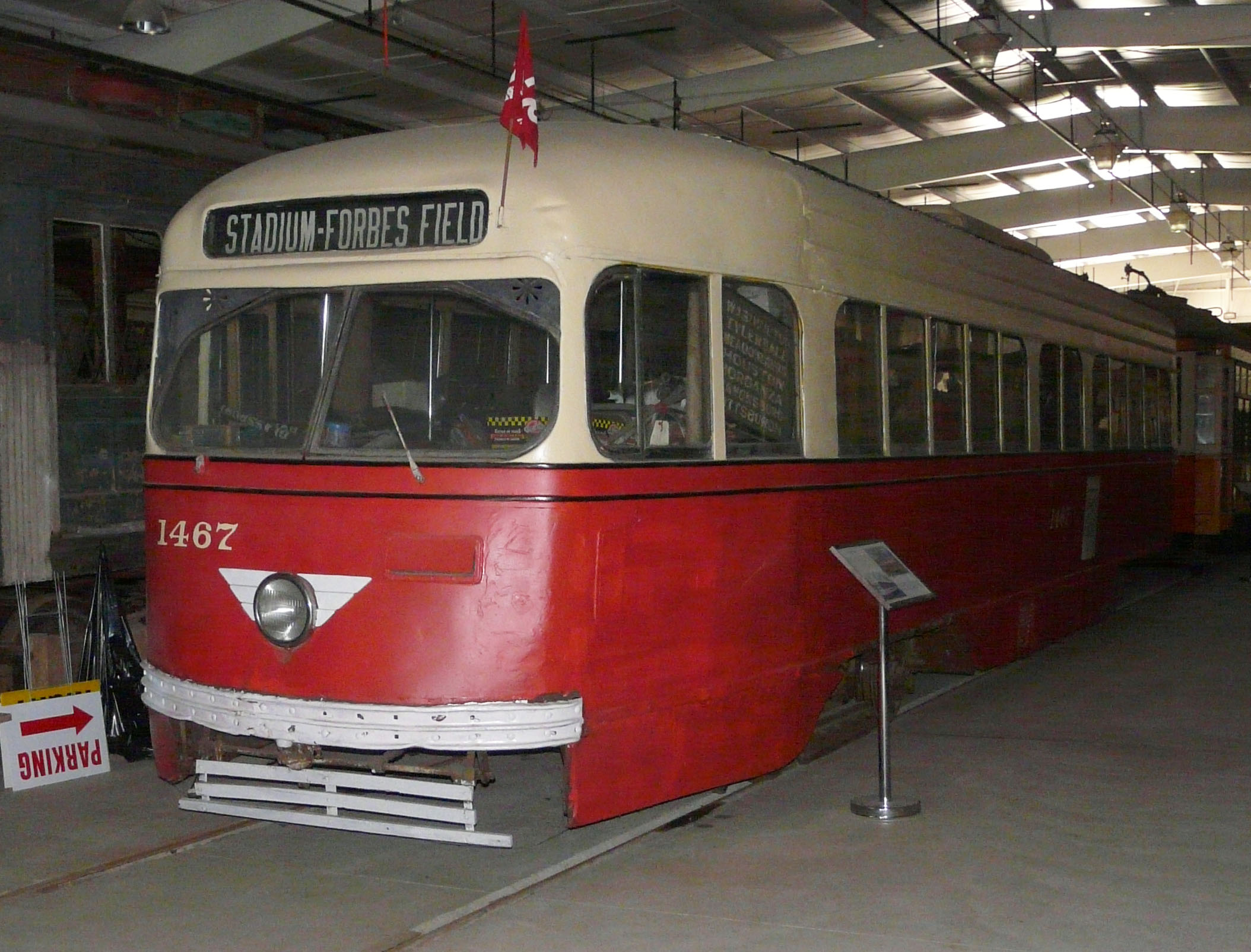 1467 as presently on display at the Trolley Display Building.
