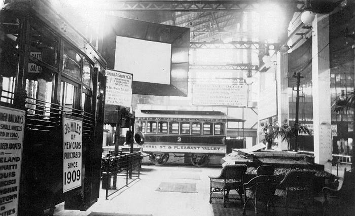 Horsecar 101 was part of an exhibit at Pittsburgh's Exposition Hall located near the Point circa 1915. It was numbered 3 instead of its original number. As a Pittsburgh Railways car its fleet number was M3.