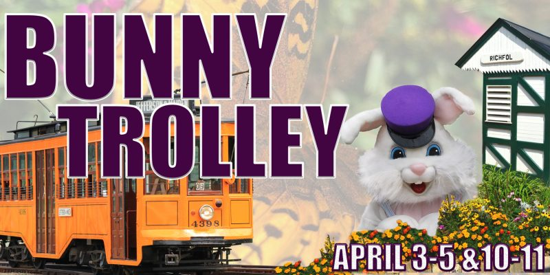 Bunny Trolley at the Pennsylvania Trolley Museum