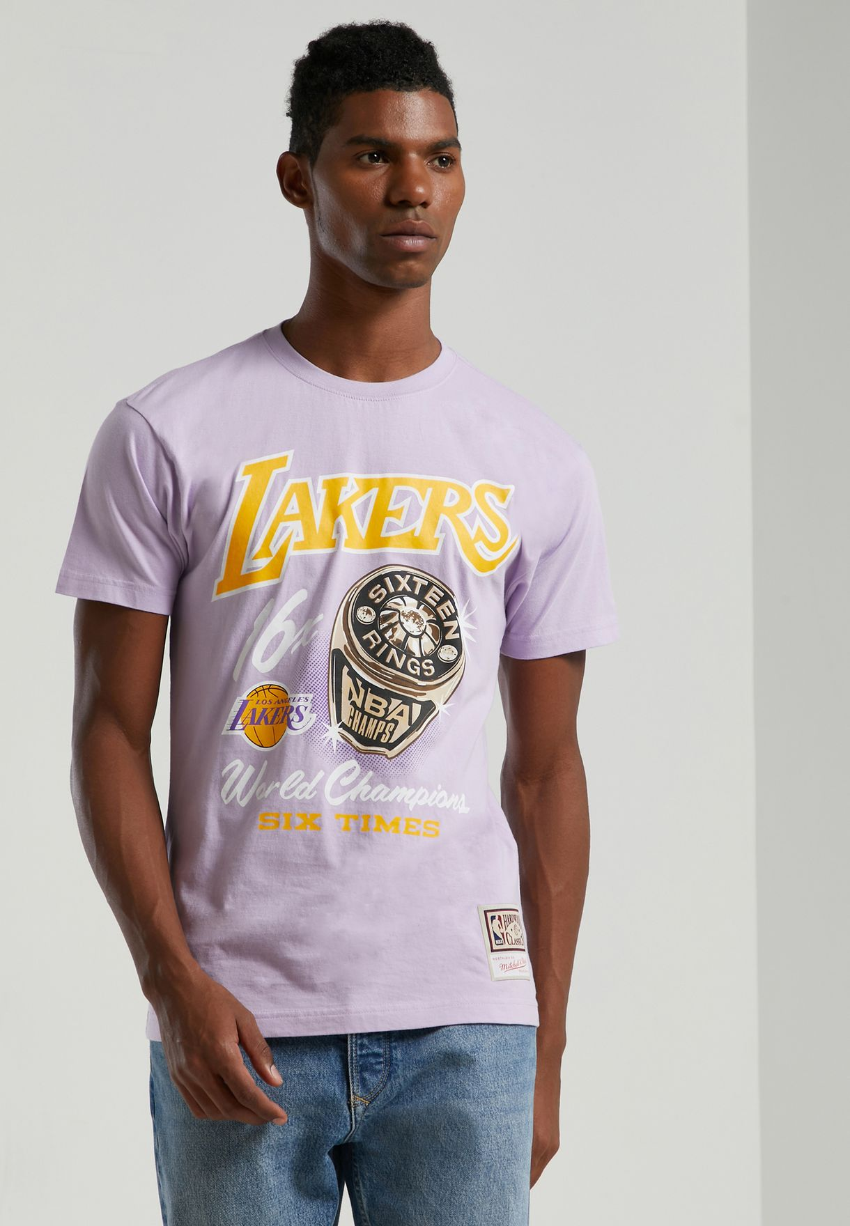 Purple Los Angeles Lakers T Shirt - Buy Mitchell Ness Purple Los Angeles Lakers Pastel Rings T Shirt For Men In Kuwait City Other Cities Mn Hwc Intl861 Lalake Pur