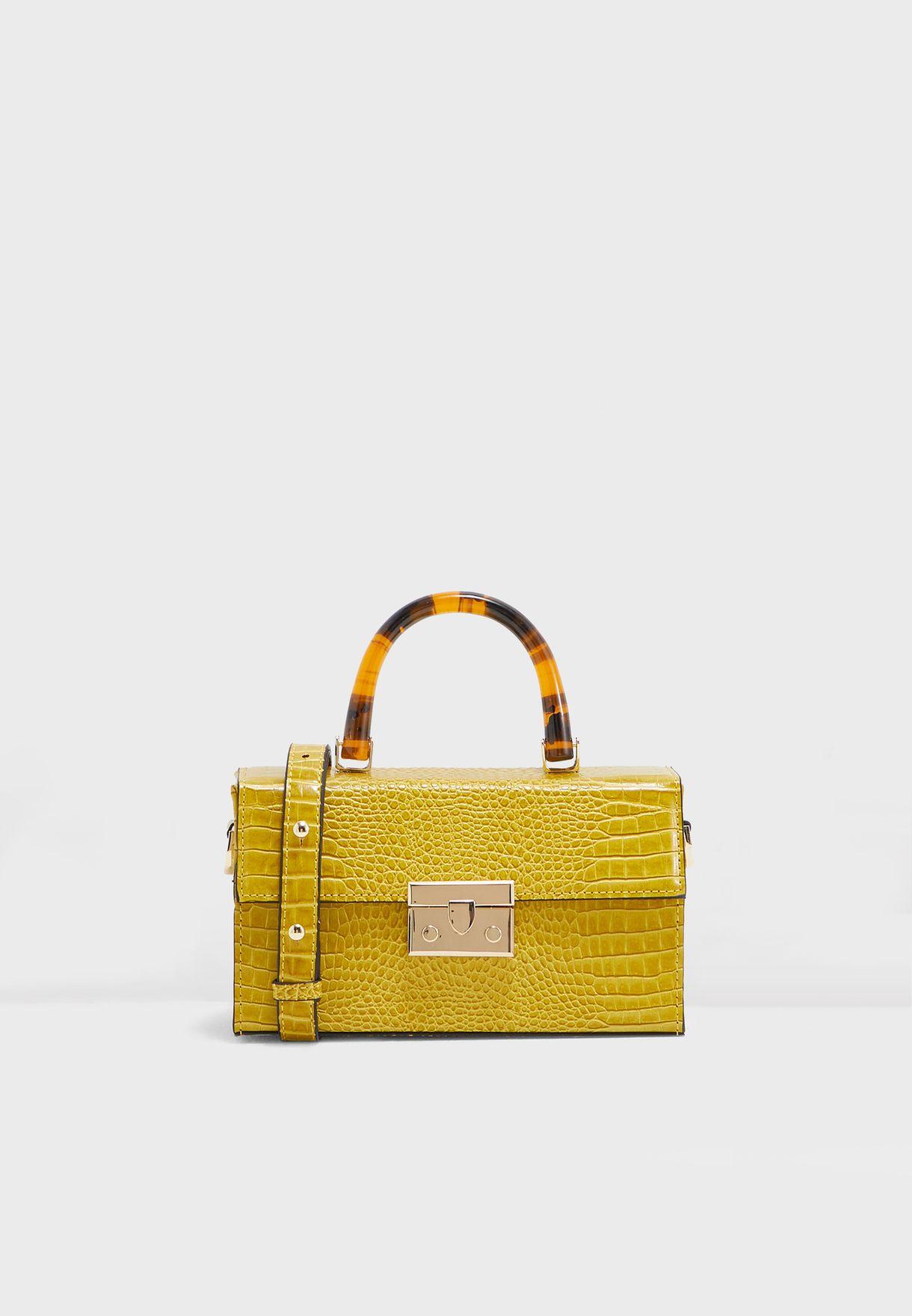 Yellow Boxy Bag