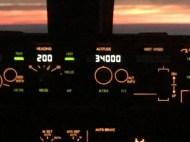 Headng 200, 34000 feet