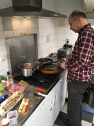 Chef James cooking