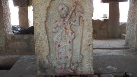 The murthi of Purandaradasa, Hampi