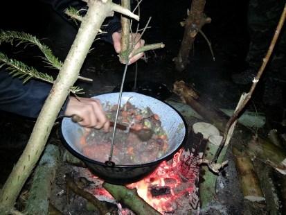 Kusten af lave mad til 25 mennesker.