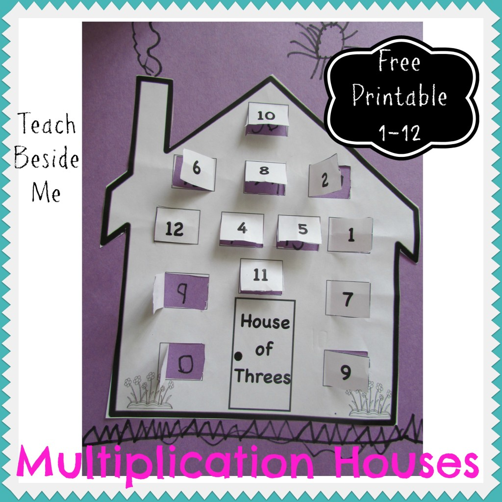 Multiplication House Printables