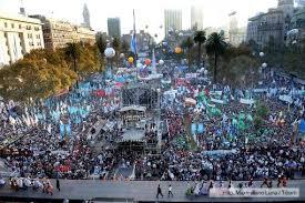 Plaza de Mayo durante la presidencia de CFK