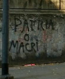 Patria o Macri