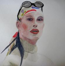 TMJ, face., watercolour on paper. (785x800)