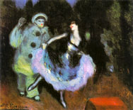 Dancer in blue (Pierrot and dancer), 1900