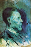 Portrait of father, 1896, watercolor