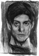 Self-portrait, 1899/1900, charcoal on paper