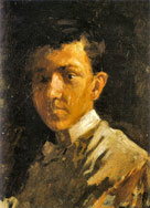 Self-portrait with short hair, 1896