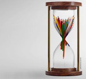 """""""O tempo da educação"""" - montagem para matéria do jornal Maré de Notícias - 2009"""