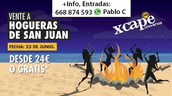 Flyer Hogueras San Juan Xcape
