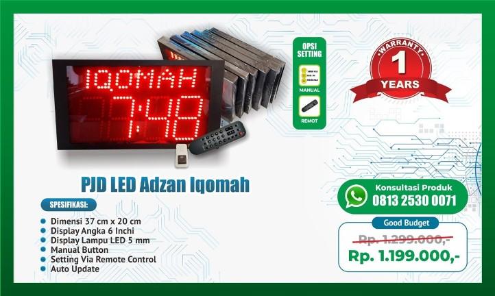 Jam Dinding Digital Adzan Iqomah Otomatis