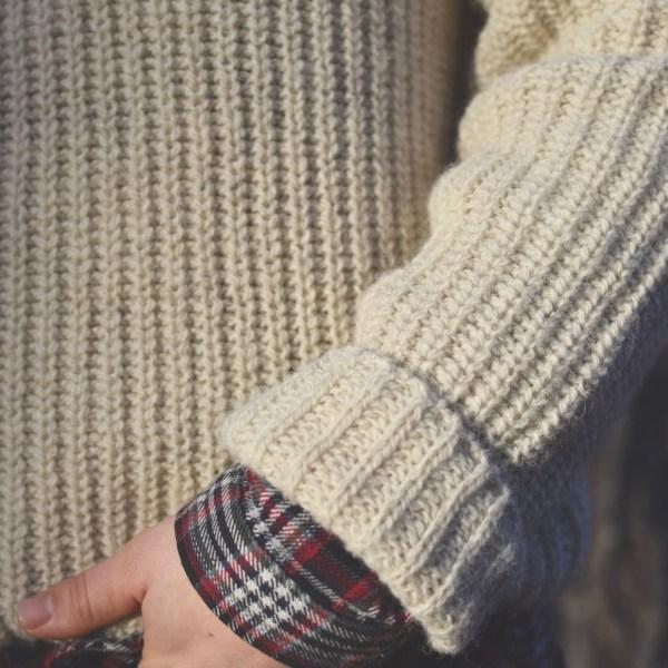 Rugged Abbott Farm Alpaca Sweater Sleeve