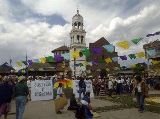 Imagen 1. Fuente: La iglesia de Cheran, Michoacán de Ocampo, tomada por la Maestra Parastoo Anita Mesri Hashemi-Dilmaghani, el 5 de febrero de 2012.