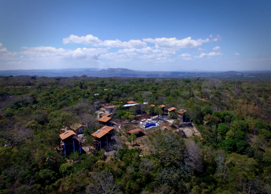 Aerial view of Pacaya Lodge and Spa