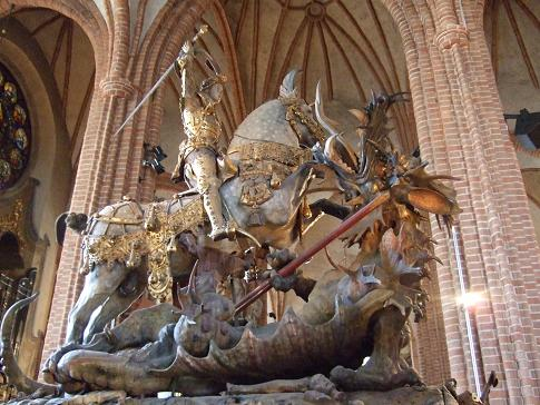 St George in St Nicholas' Church in Stockholm