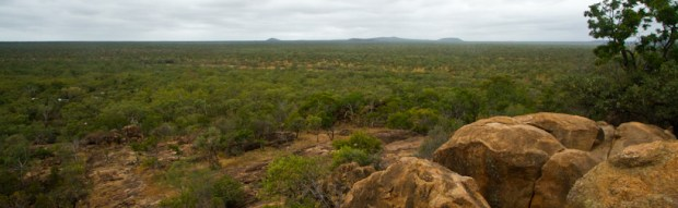 Undara National park and its craters a over the horizon