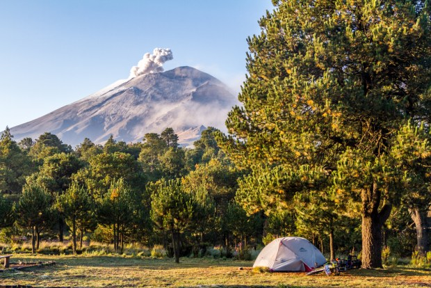 Campsite at Paso de Cortes
