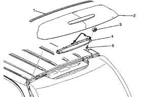 19150496  Rear Window Tailgate Molding 20022006