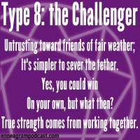 Untrusting toward friends of fair weather; It's simpler to sever the tether. Yes, you could win On your own, but what then? True strength comes from working together.