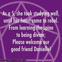 As a 5, she took studying well, Until her heart came to rebel. From learning the spine, To being divine, Please welcome our good friend Danielle!