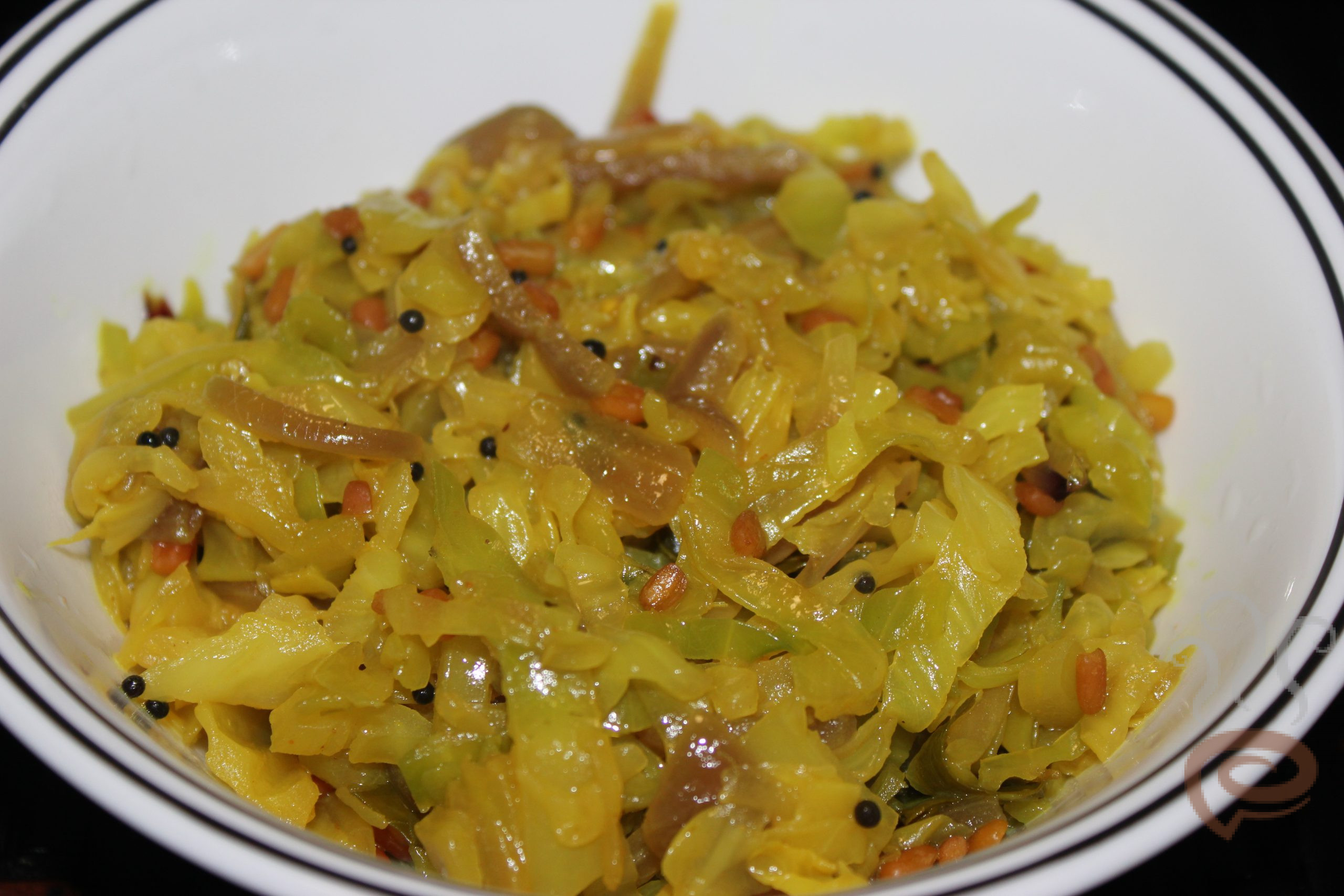 Cabbage Thoran Easy