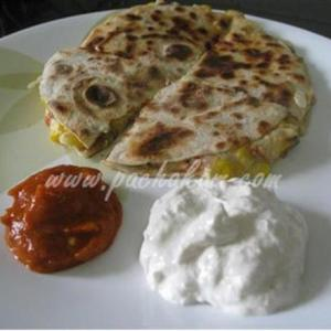 Sweet Corn & Cheese Quesadillas (step By Step Phot