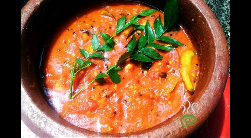 Thakkali Chutney Recipe - Nadan Kerala Style