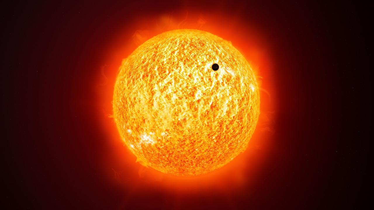 transit de mercure : passage de mercure devant le soleil