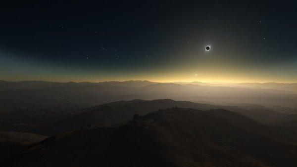 Éclipse solaire au Chili