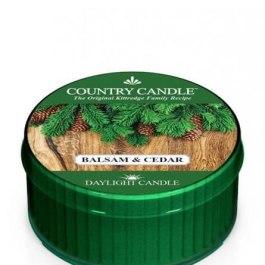 Country Candle Balsam & Cedar Świeca Daylight 35g
