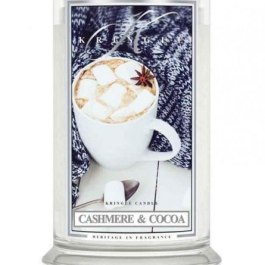 KRINGLE CANDLE Cashmere & Cocoa DUŻA ŚWIECA 623G