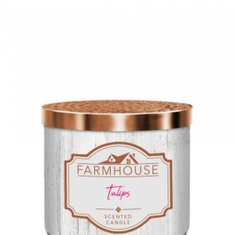 Kringle Candle Tulips Farmhouse Tumbler 411g 3 knoty