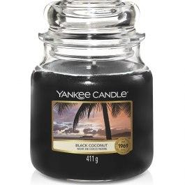 Yankee Candle BLACK COCONUT Średnia Świeca Zapachowa 411g