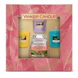 YC Zestaw świeca w małym słoiku i 3 świece typu votive