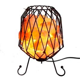 Lampa Solna w Koszyku Metalowym – Różowa