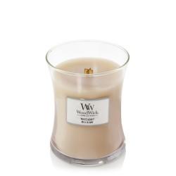 WoodWick WHITE HONEY Średnia Świeca Zapachowa