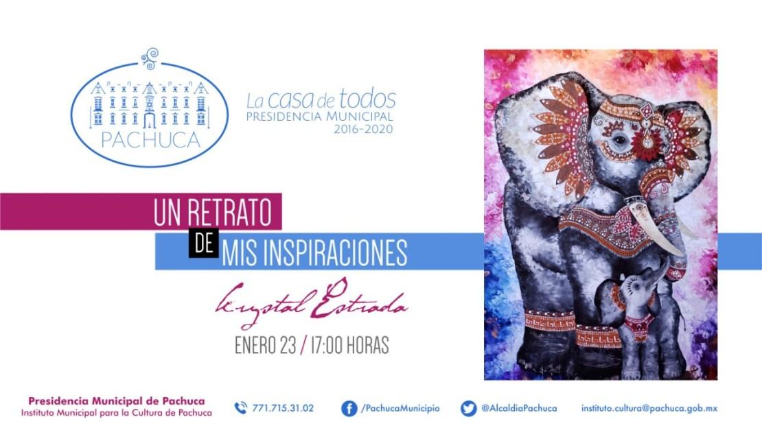 Asiste a la muestra pictórica de Krystal Garrido en Instituto Municipal de Cultura de Pachuca