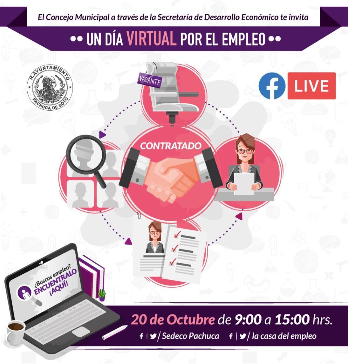 ¿Buscas trabajo? Habrá día virtual por el empleo en Pachuca