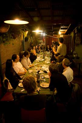 It was a full table at the TransitionSydney Cafe Conversation with Michael Shuman.