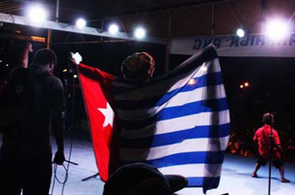 The free West Papua concert in Port Moresby marking Benny Wenda's global tour. Image: Masalai blog