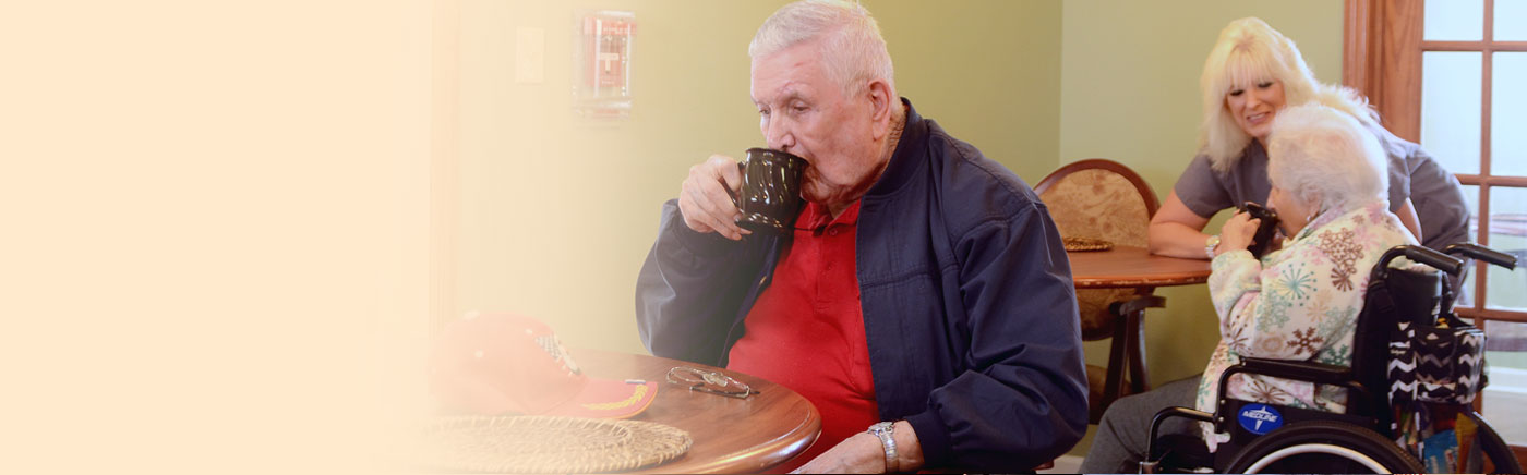 Residents Drinking Coffee