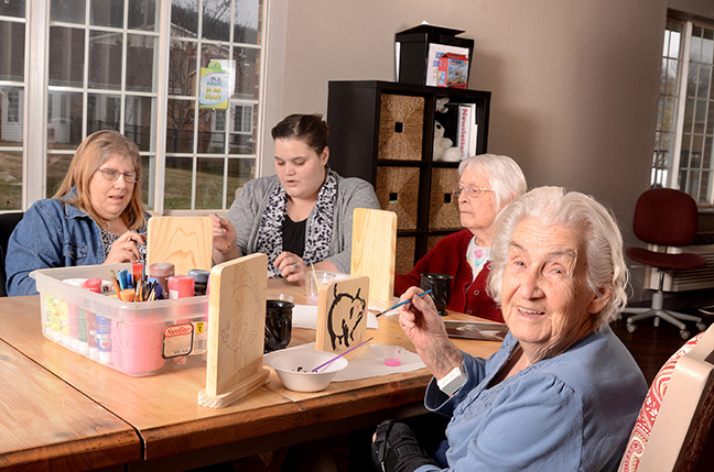 Skilled Resident Care at Pacific Care Center includes painting crafts