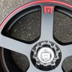 Set of 4 brand new Les Schwab custom 17 x 7 inch alloy wheels