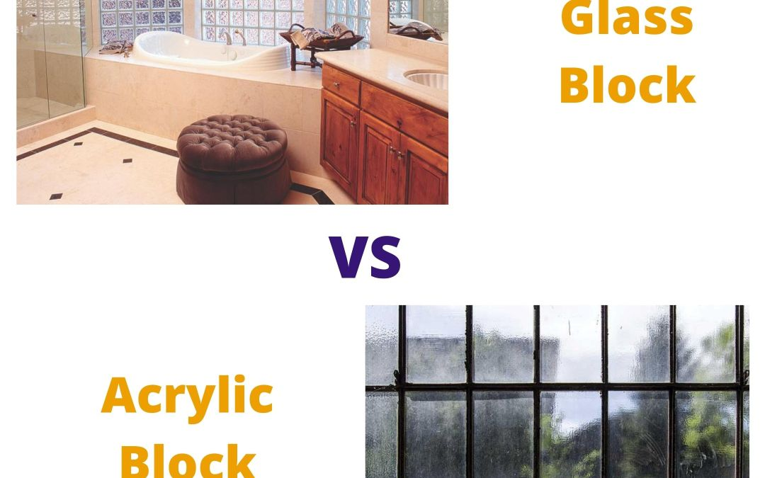 Real Glass Block vs Acrylic Block