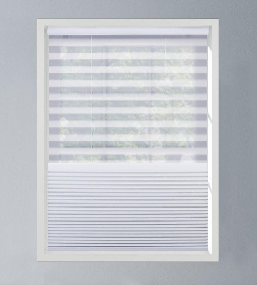 Day/night shades on window